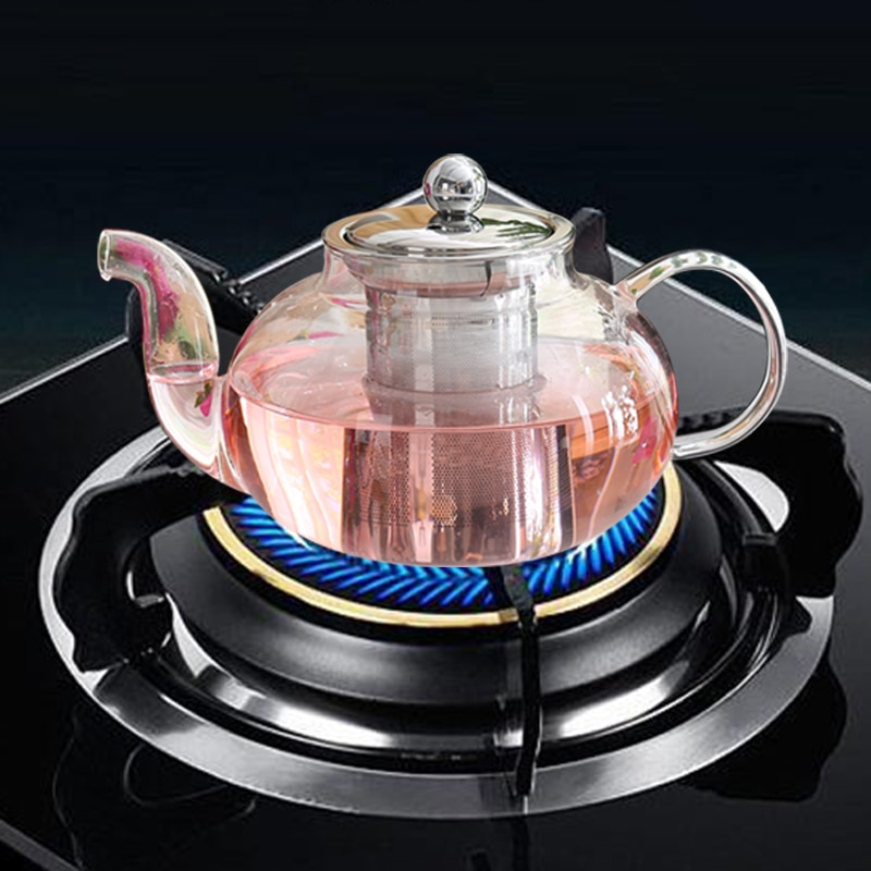 New Hot Best Selling Good Clear Borosilicate Glass Teapot With 304