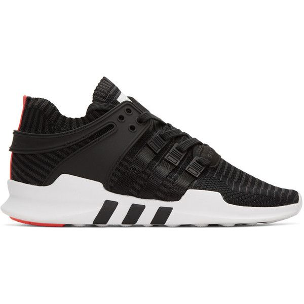 premium selection cd1ea 4ee39 adidas Originals Black Equipment Support ADV Sneakers ( 150) ❤ liked on Polyvore  featuring shoes, sneakers, black, black low top sneakers, rubber sole ...