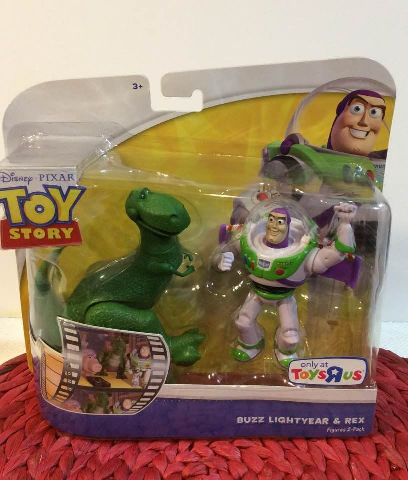 Disney Toy Story Double Pack Buzz Lightyear And Rex 4 Inch Posable Figures Disney Toys Buzz Lightyear Toy Store