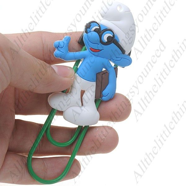grab a trendy smurf large paperclip, see more at www.allthelittlethingsyouneed.co.uk