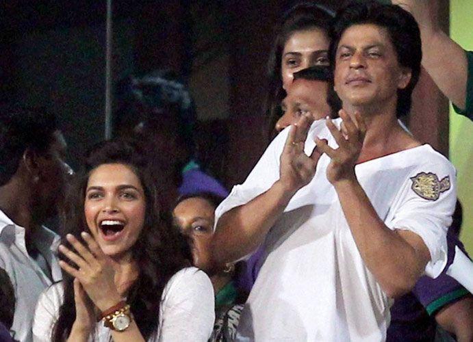 Shahrukh Khan and Deepika Padukone IPL Shah rukh khan