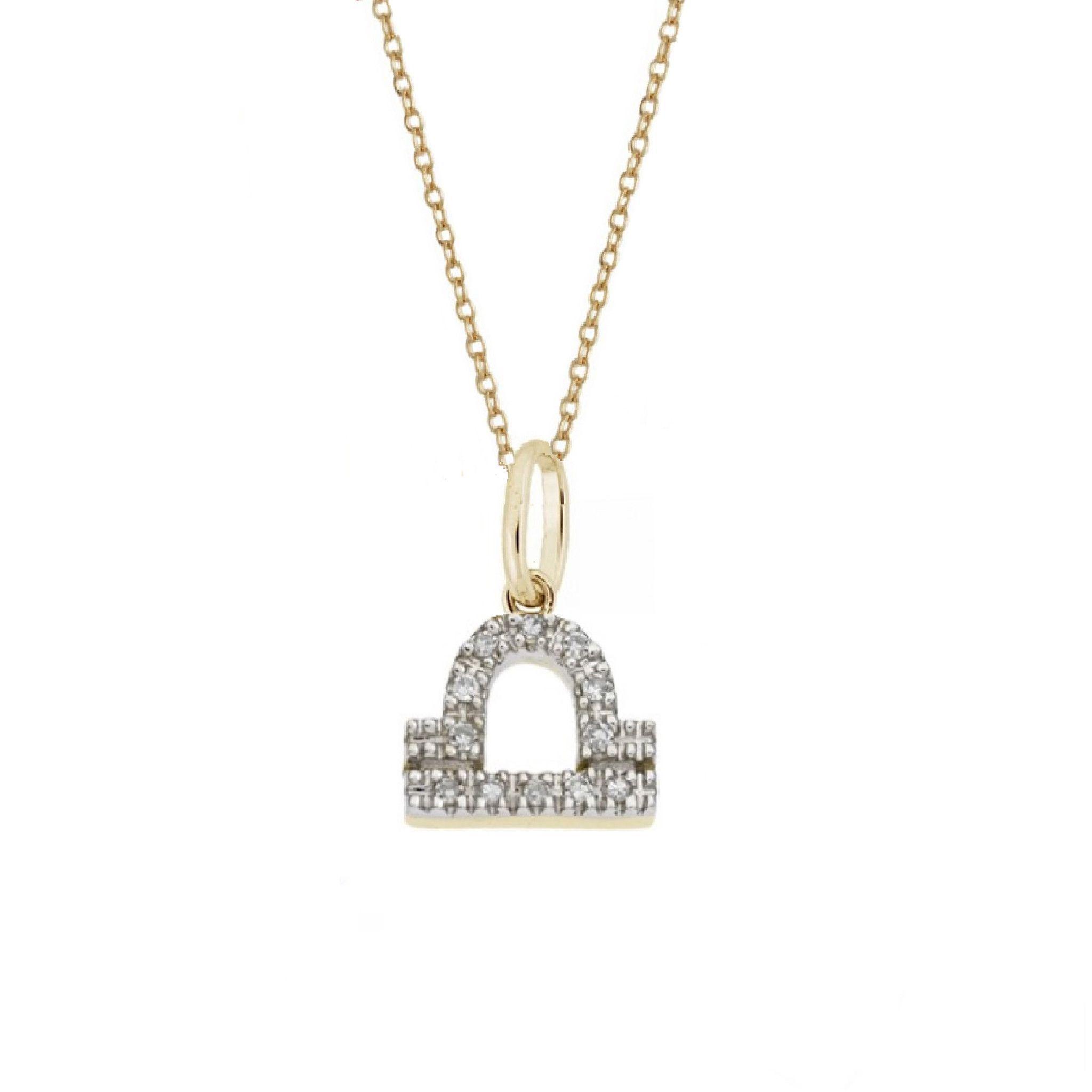 Libra diamond zodiac charm necklace astrology pinterest zodiac