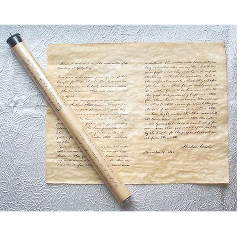 Historic U S Document Reproduction Lincoln S Gettysburg