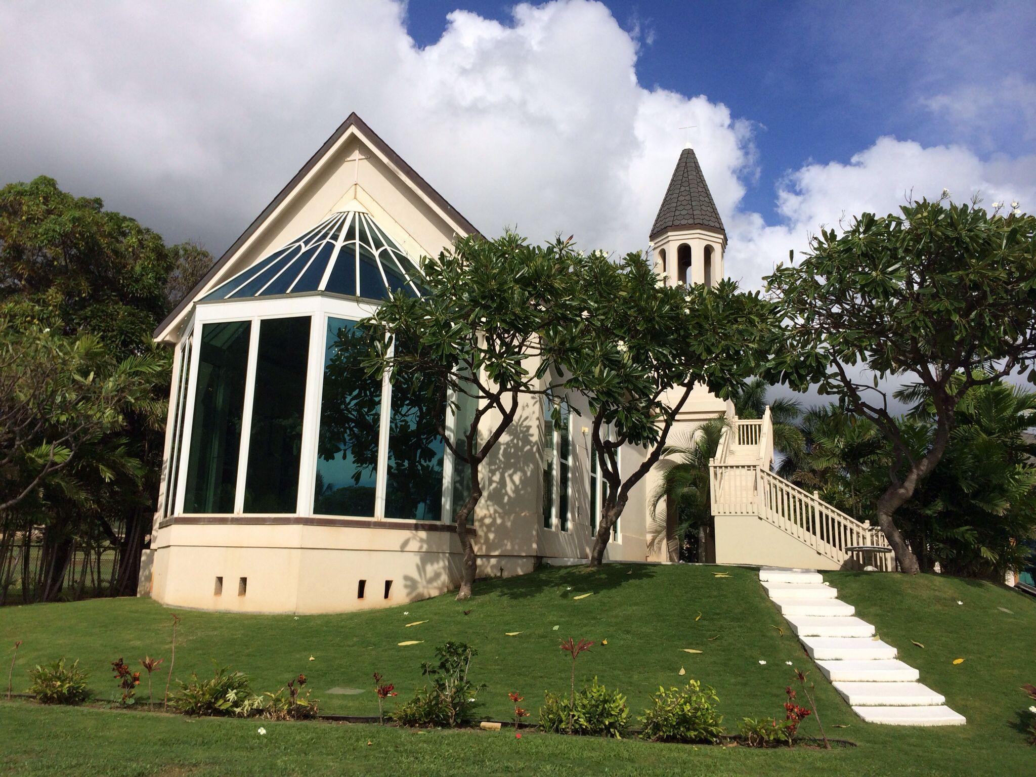 Paradise Cove Crystal Chapel Outside Hawaii Wedding Ceremony Venue Paradise Cove