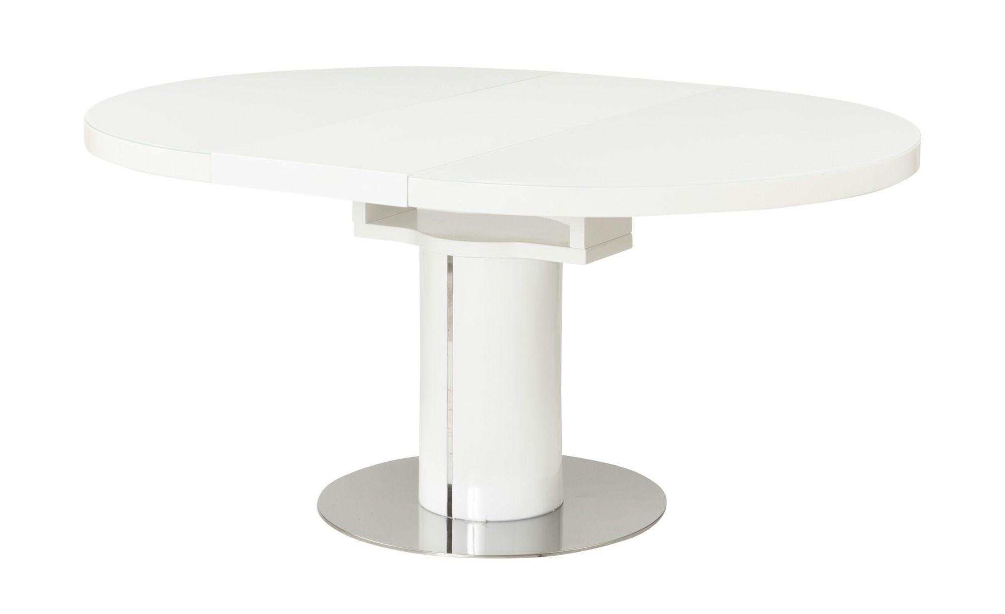 Esstisch Oval Ausziehbar Weiß