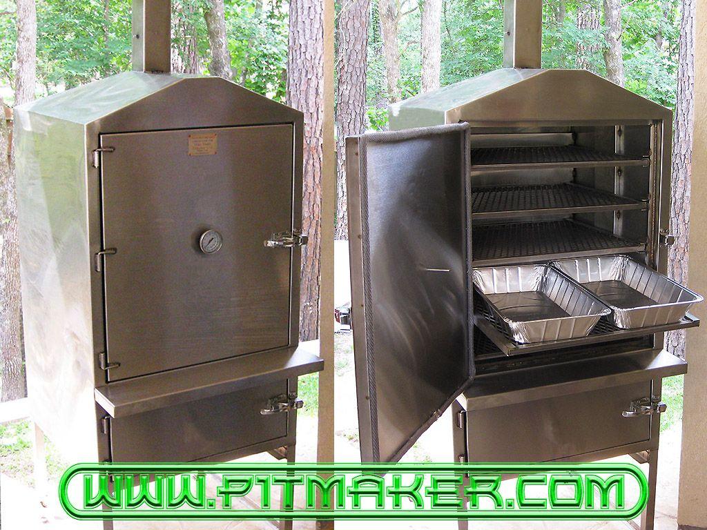 Pitmaker in Houston, Texas. BBQ Smoker Grilling