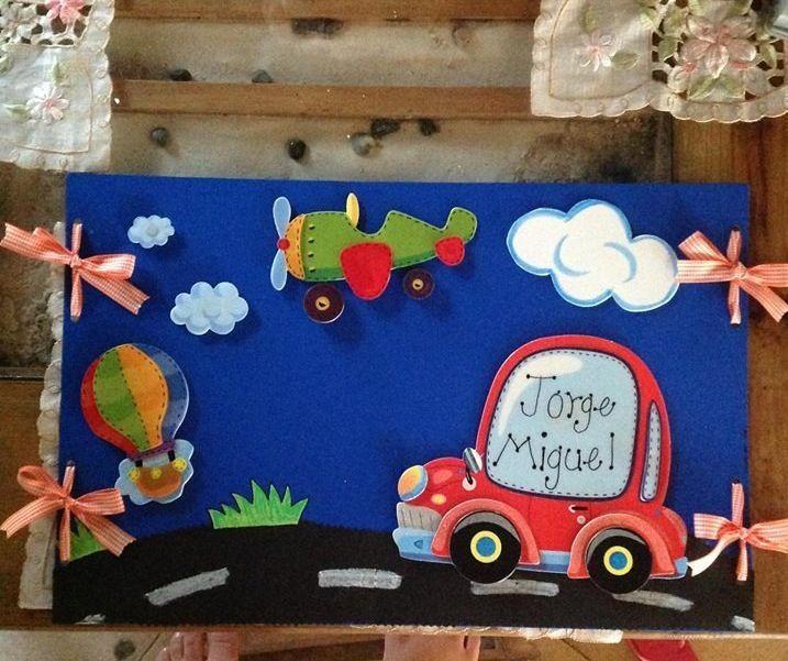 Carpetas decoradas scrapbook pinterest lindos for Decoracion habitacion bebe goma eva