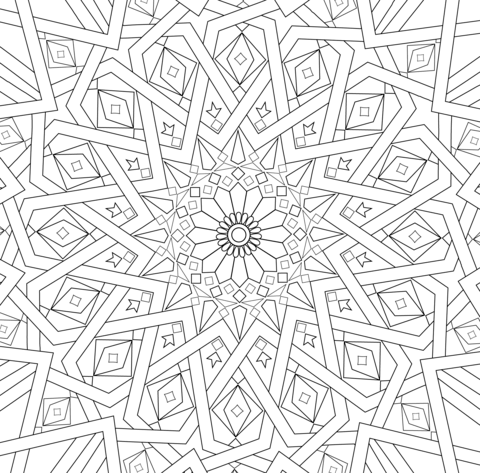 Traditional Islamic Mosaic Coloring Page From Category Select 21529 Printable Crafts Of Cartoons Nature Animals Bible And