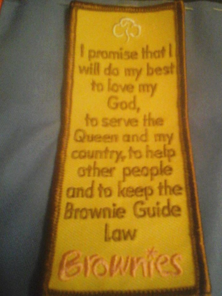 Old brownie promise badge camp blanket pinterest badges and old brownie promise badge malvernweather Images