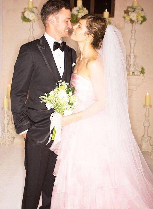 Jessica Biel, Giambattista Valli gown | Celebrity wedding ...