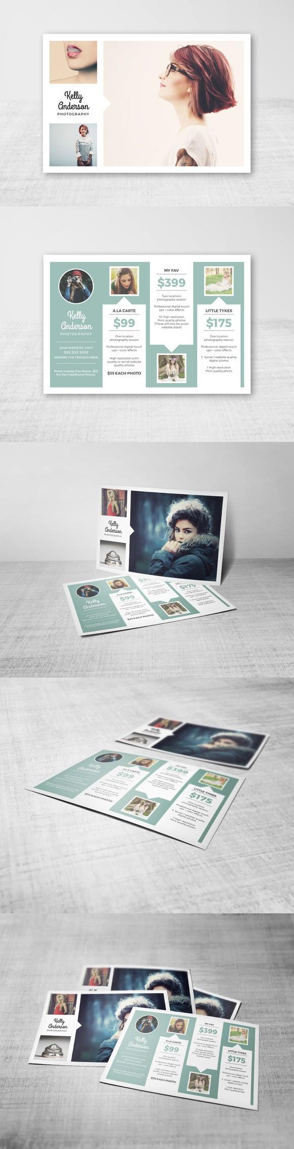 Photographer Price List Handout   Pinterest   Card templates ...