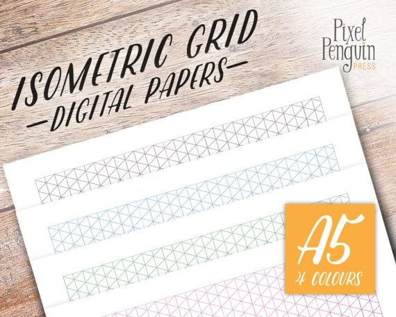 Printable Isometric Grid Paper, Bullet Journal Printable Planner - notebook paper download