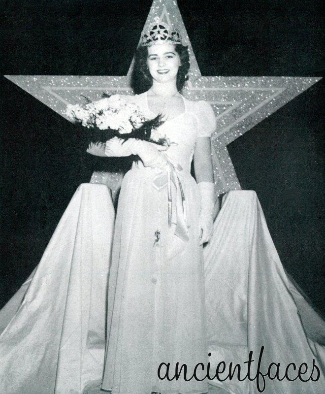 1942 Elizabeth Jensen High School Easter Queen--ancient