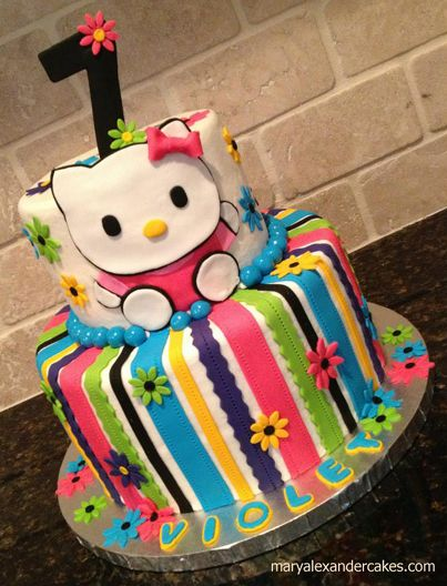 Mary Alexander Cakes Gallery Of Neon Hello Kitty Theme Cake For 7 Year Old Birthday