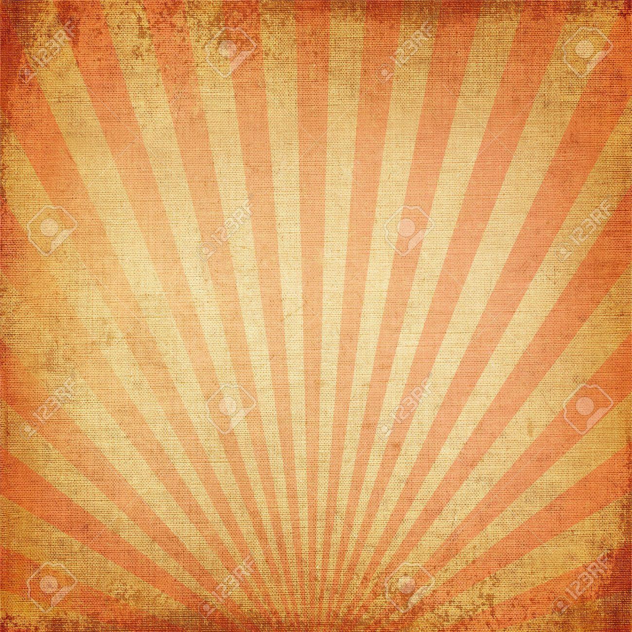 Vintage Background Red Rising Sun Or Sun Ray Sun Burst Retro Paper Be Crumpled Orange Background Red Rising Watercolour Texture Background