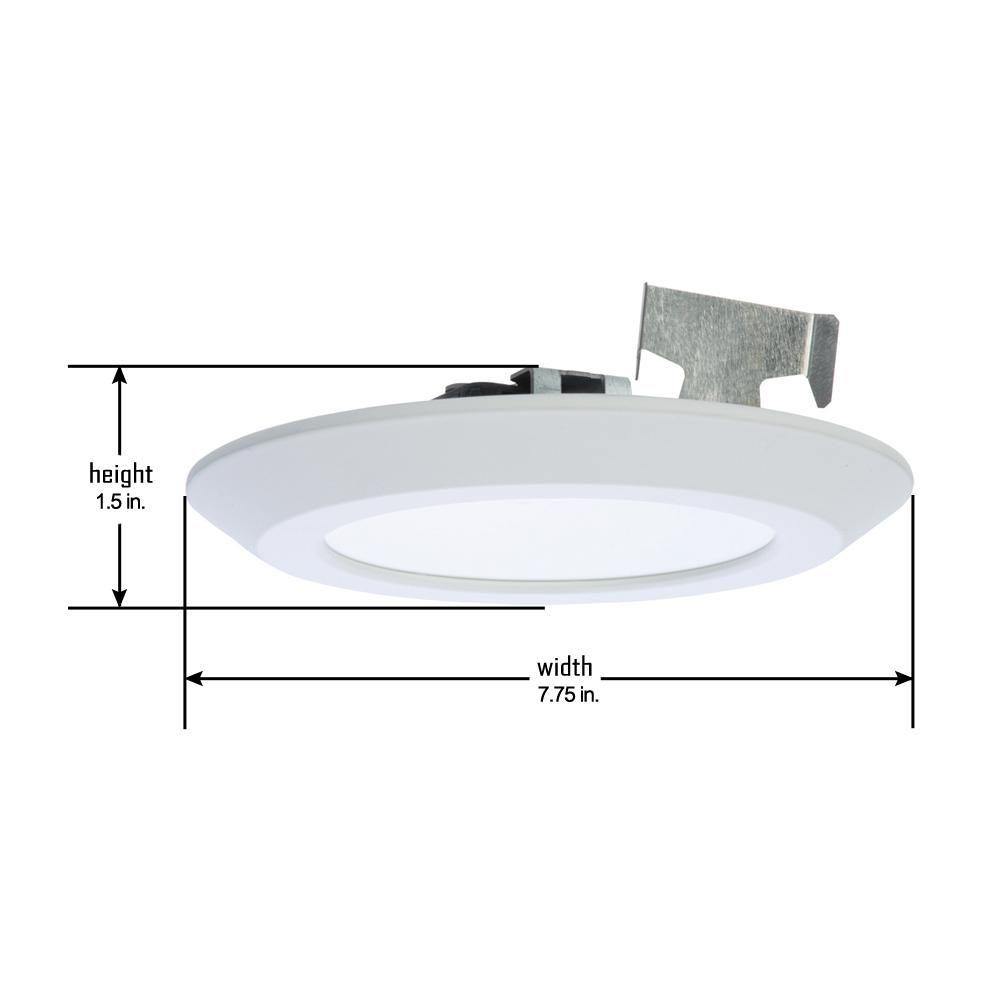 Halo 5 in and 6 in 2700k white integrated led recessed retrofit