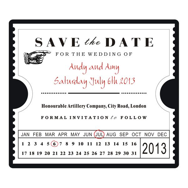 wedding invites ticket stubs save the date ticket stub template