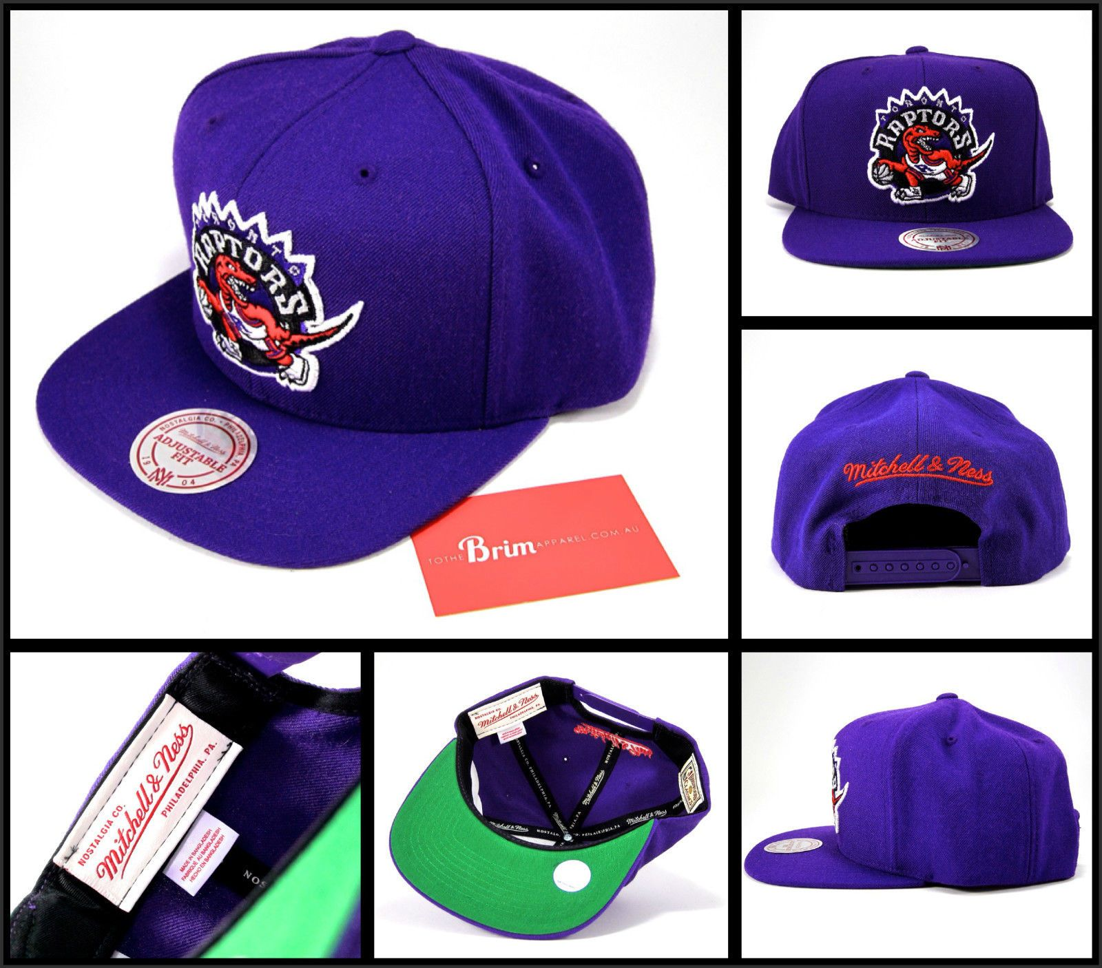 d1da23bb07d Authentic Toronto Raptors Logo Mitchell AND Ness Snapback HAT Retro Vintage