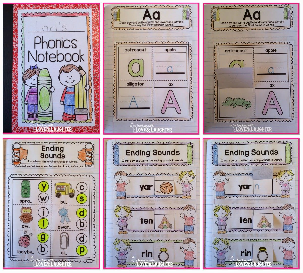 Kindergarten Phonics Interactive Notebooks