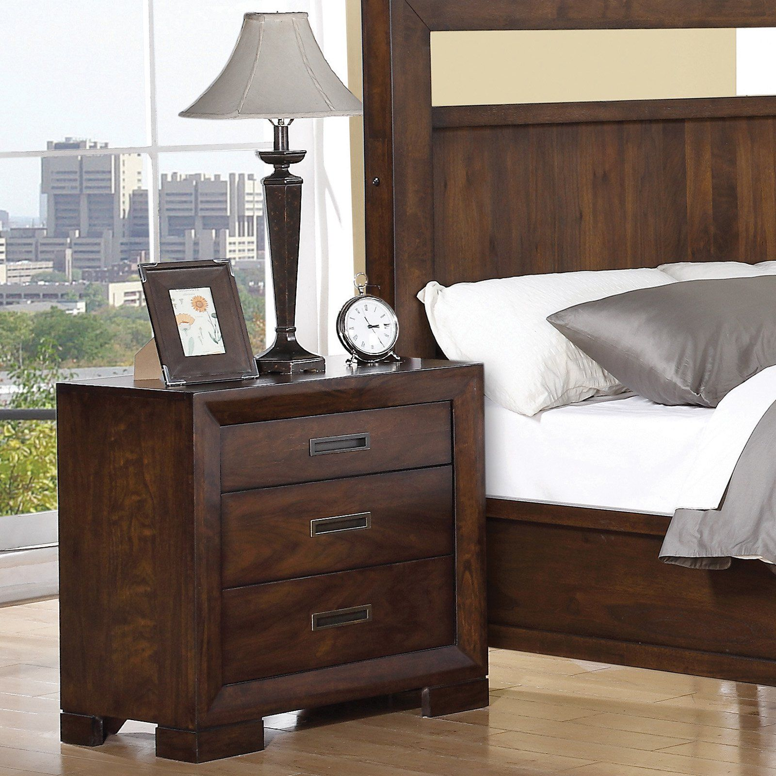 Have to have it Riata 3 Drawer Nightstand Warm Walnut $409 5