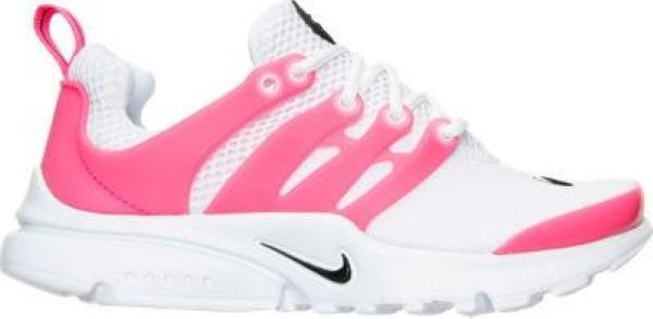 Girls' Preschool Nike Presto Running Shoes White/Black/Hyper Pink 844764  106 #