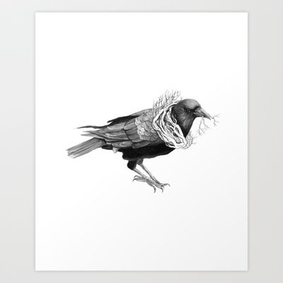 The Crow - Tangled Art Print by Jess Polanshek - $18.00