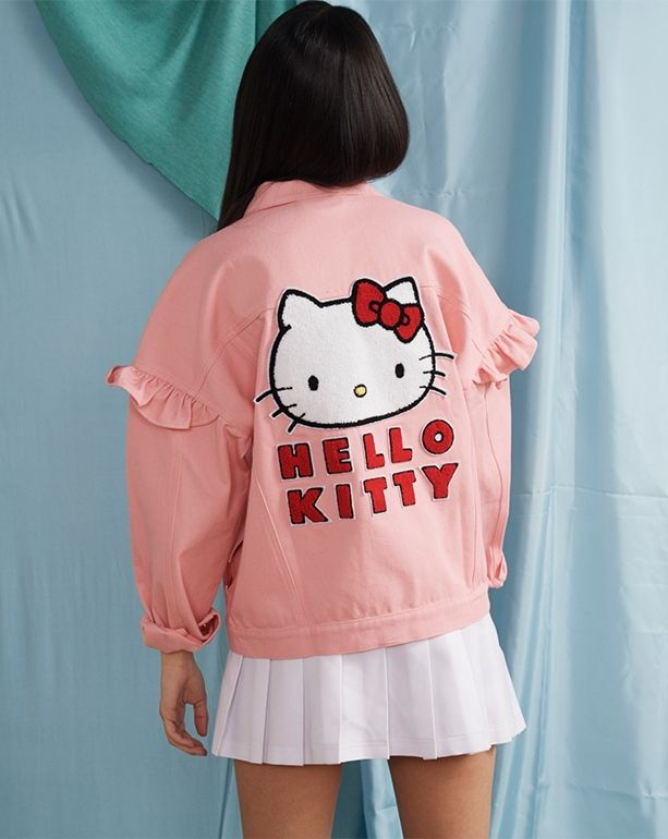 5442d428e Hello Kitty x Lazy Oaf Frilly Denim Jacket - View all - New In - Womens