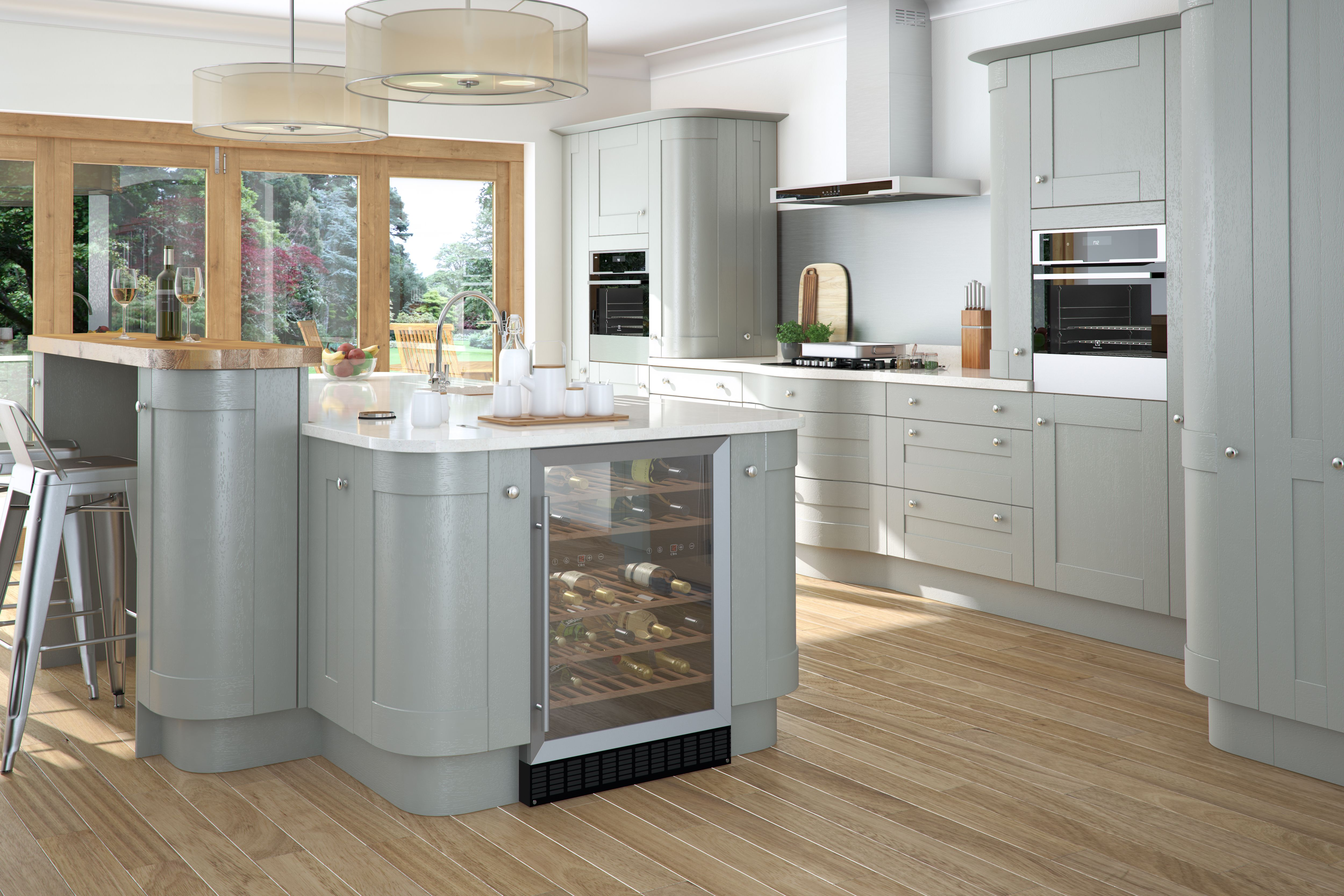 An Innova Linwood Lamp Room Grey Kitchen kitchens