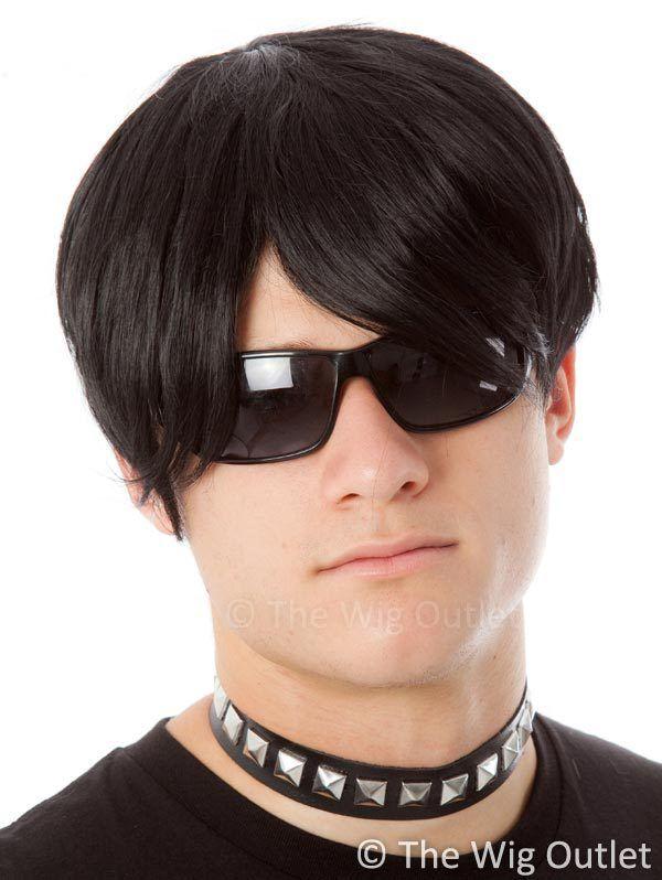 Emo Guy Black Costume Mens Wig Www Thewigoutlet Com Au Costume Wigs Mens Wigs Halloween Wigs
