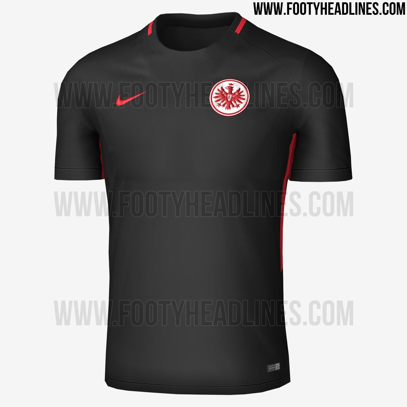 117adea21 The Frankfurt 17-18 away kit features a subtle design in black and ...