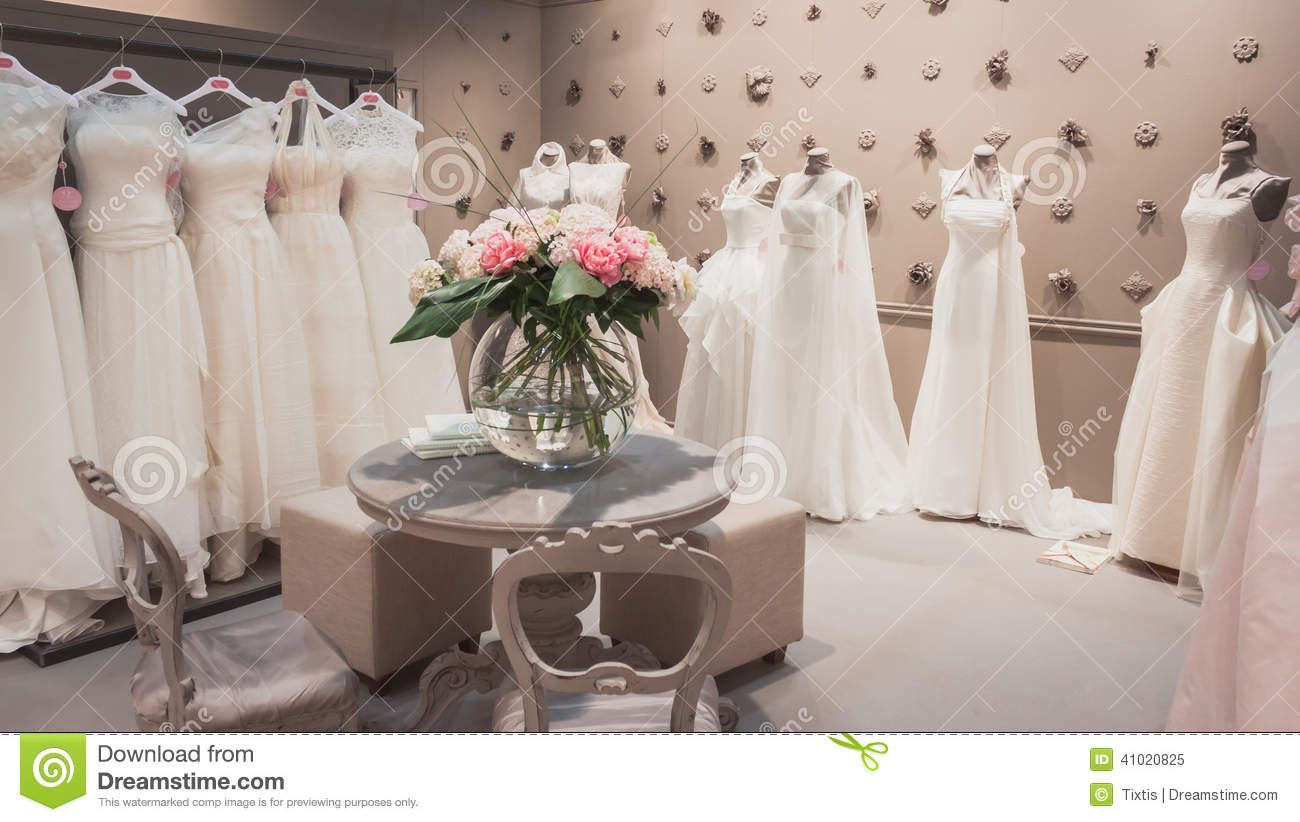 Wedding Dresses On Display At Si Sposaitalia In Milan Italy