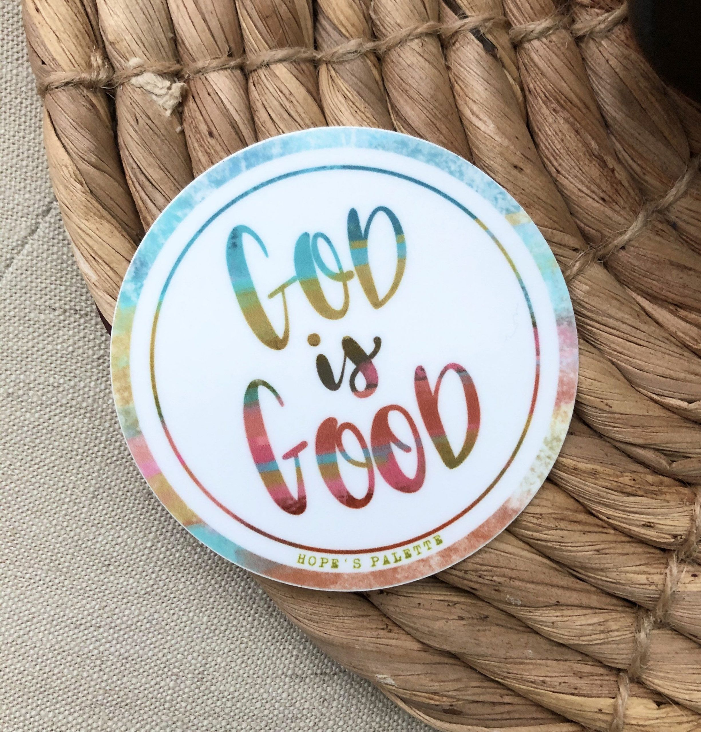 God Is Good Laptop sticker Christian quote sticker weather proof and dishwasher safe stickerchristian