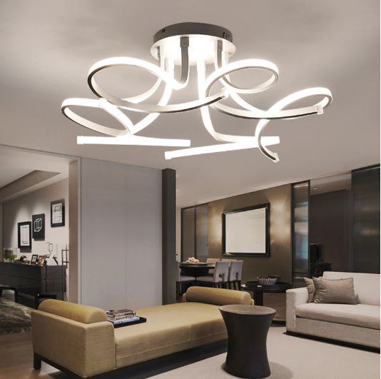 Swirl Ceiling Light Ceiling Lights Modern Chandelier Lighting