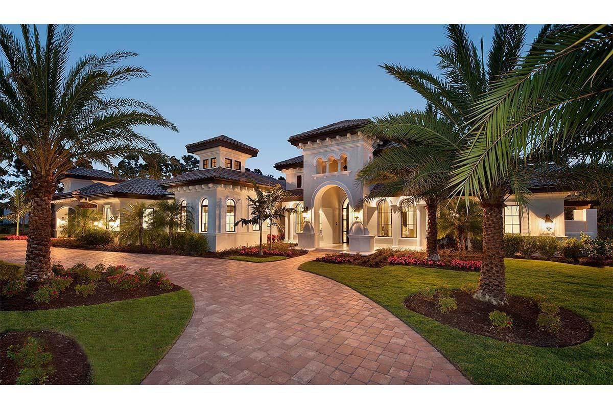 House Plan 1018 00284 Coastal Plan 4 403 Square Feet 4 Bedrooms 4 5 Bathrooms Mediterranean Style House Plans Mediterranean House Plans Luxury Mediterranean Homes