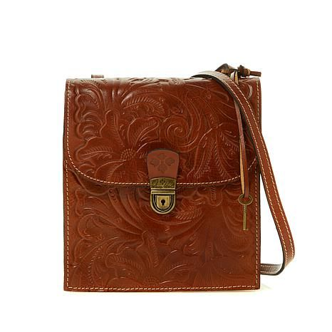 Patricia Nash Rossano Tuscan Tooled Leather Crossbody Organizer . 791a1d3685a77