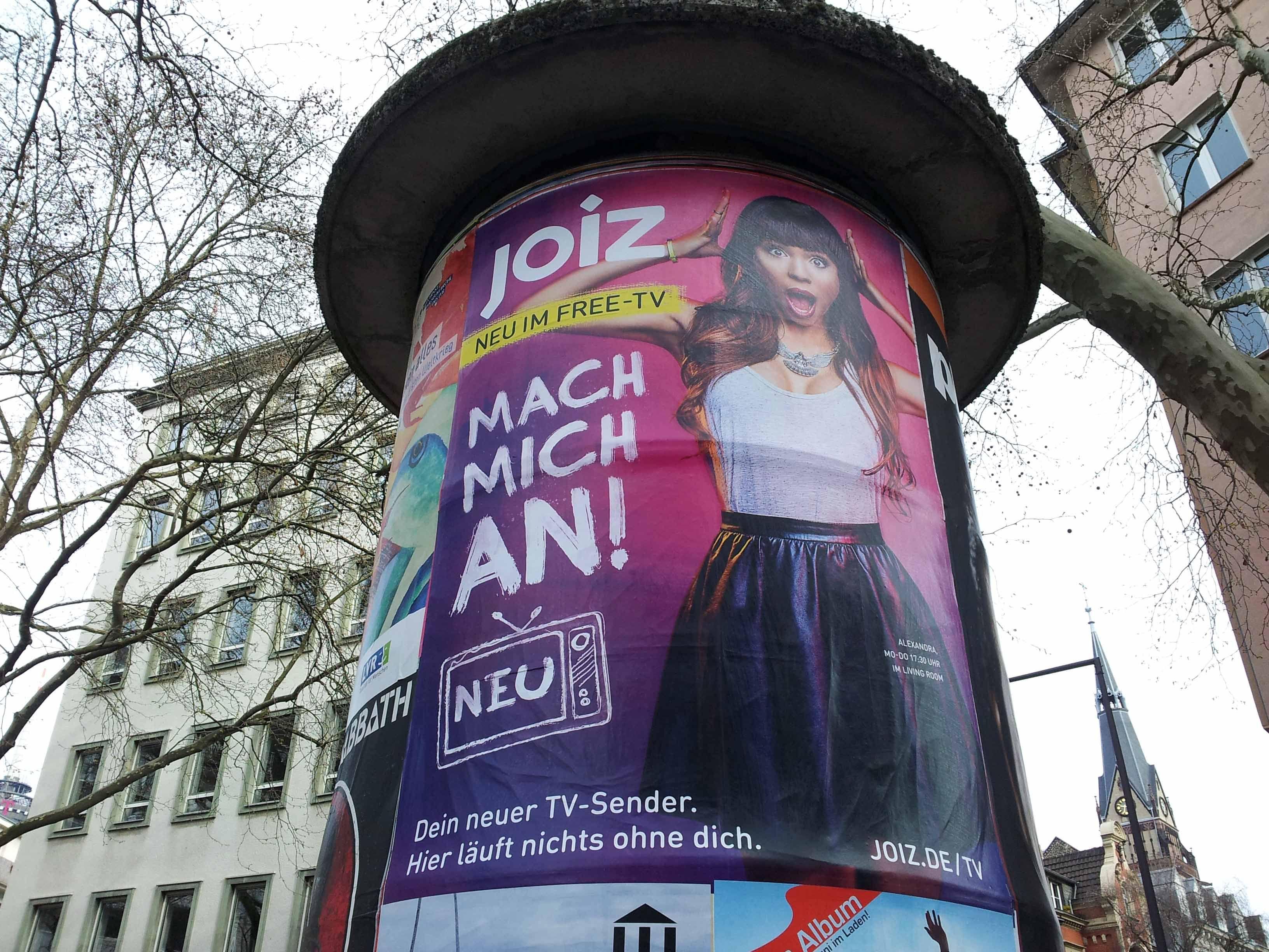 Joiz TV . Frühjahr 2014