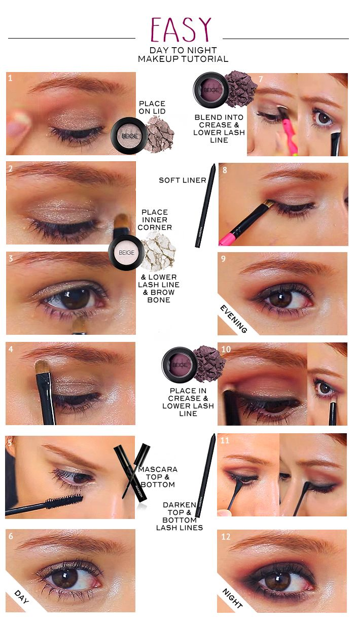 Eye makeup easy day to night tutorial for beginners wishtrendglam easy eye makeup tutorial for beginners you can follow these 2 different gorgeous day makeup baditri Choice Image