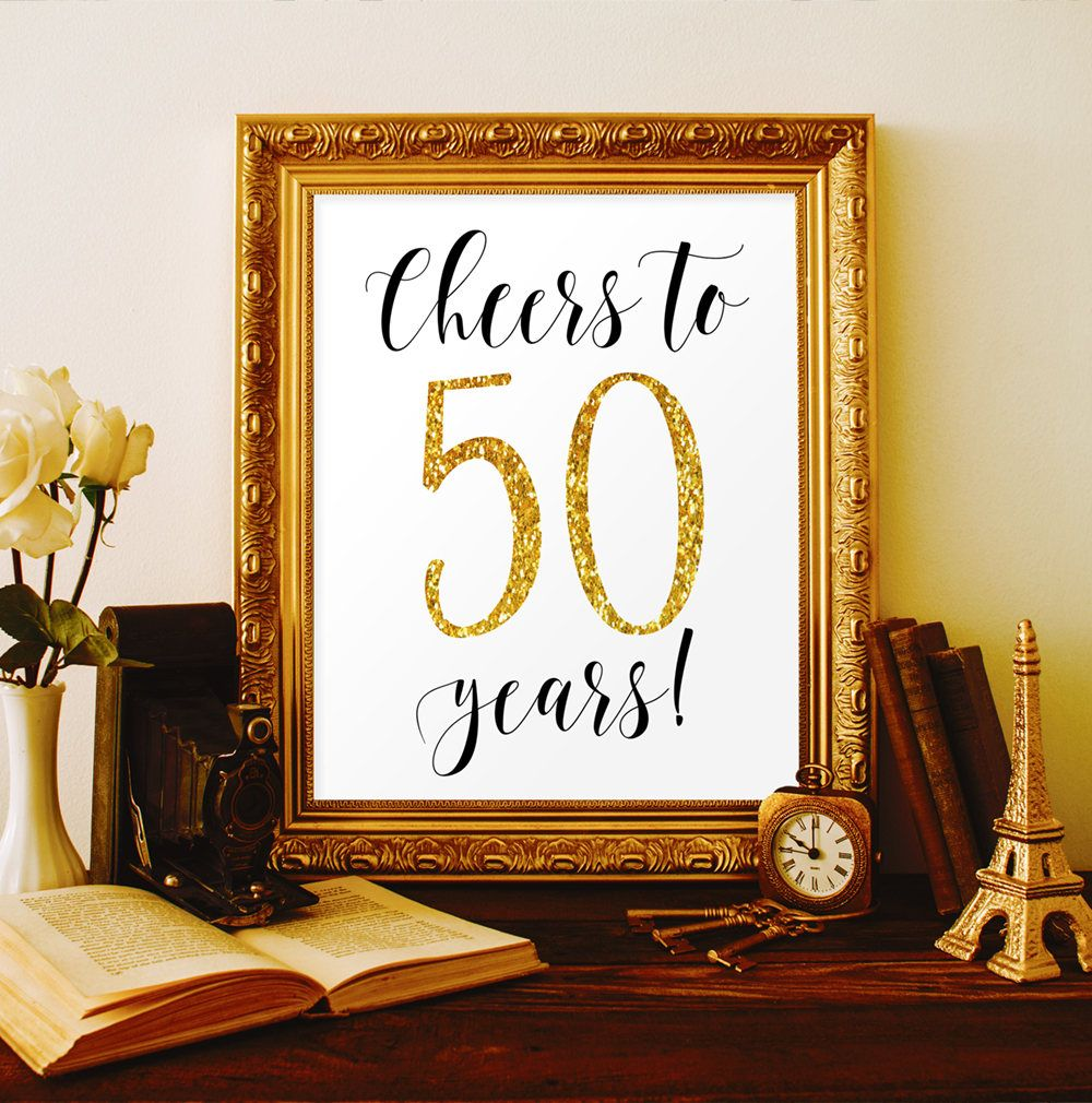 50th wedding decorations ideas  Cheers to  years th birthday party decorations for men th