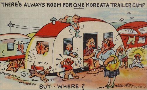 Vintage Travel Trailer Art 1930's Trailer Room Refrigerator Tool Box Magnet | eBay