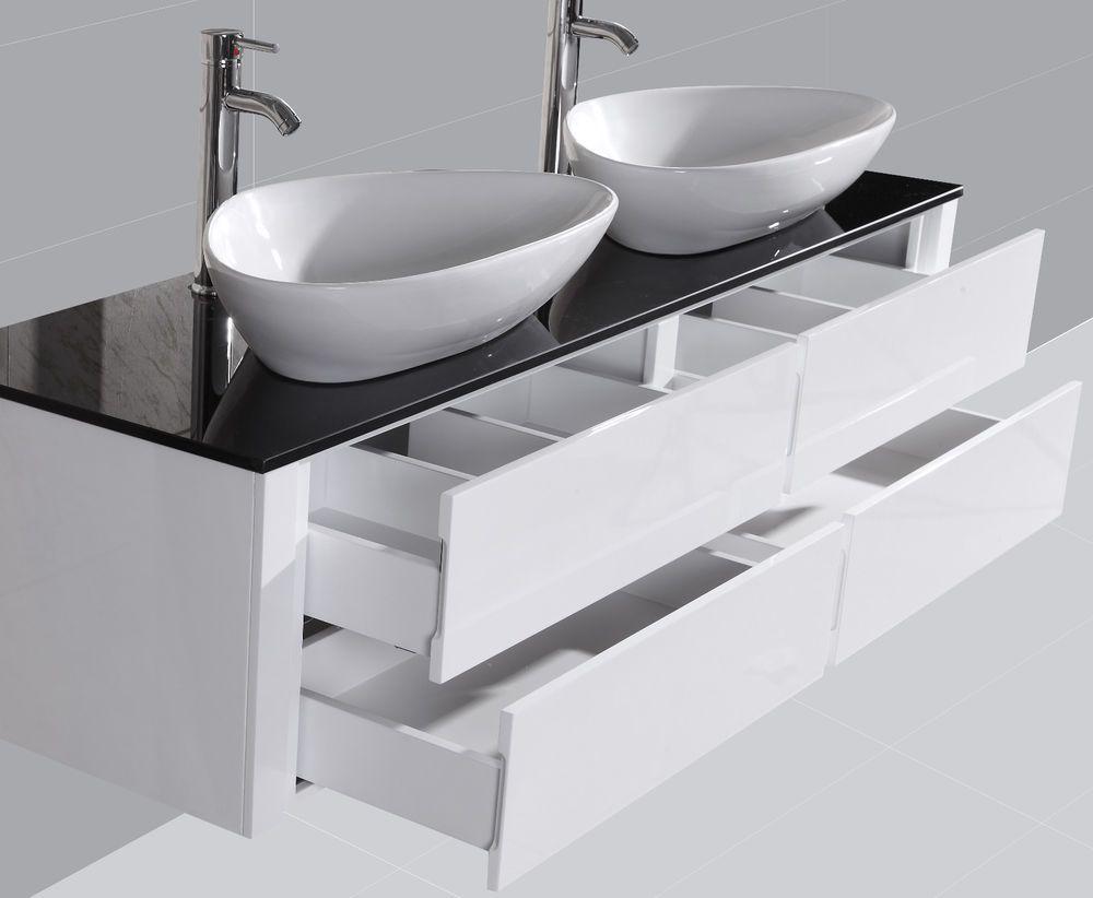 Badezimmermöbel Doppelwaschtisch ~ Details zu badezimmermöbel bad set badmöbel waschtisch neu