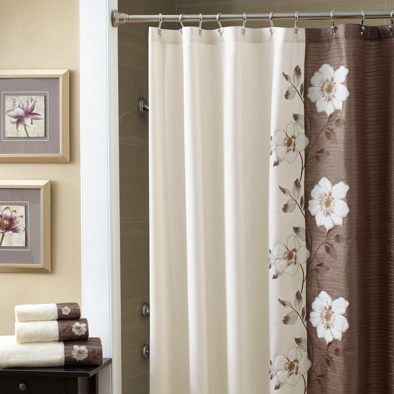 Inspirational Croscill Galleria Brown Shower Curtain
