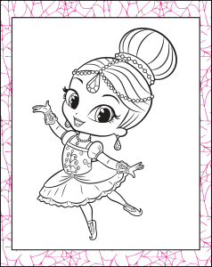 Shimmer Doing Ballet Coloring Page