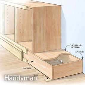 Most Lower Cabinets Include A Base Or Toe Kick That Raises Them Off The  Floor. But Ken Doesnu0027t Build Them That Way. Instead, He Builds A Ply.