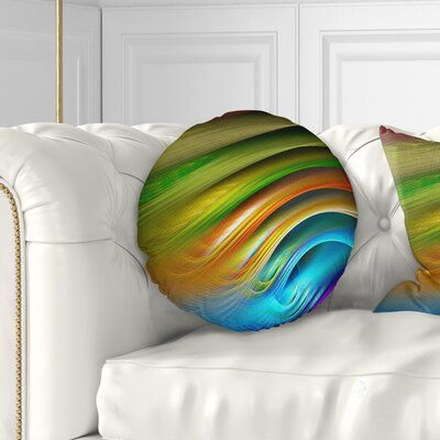 East Urban Home Abstract Fractal Water Ripples Throw Pillow #waterripples