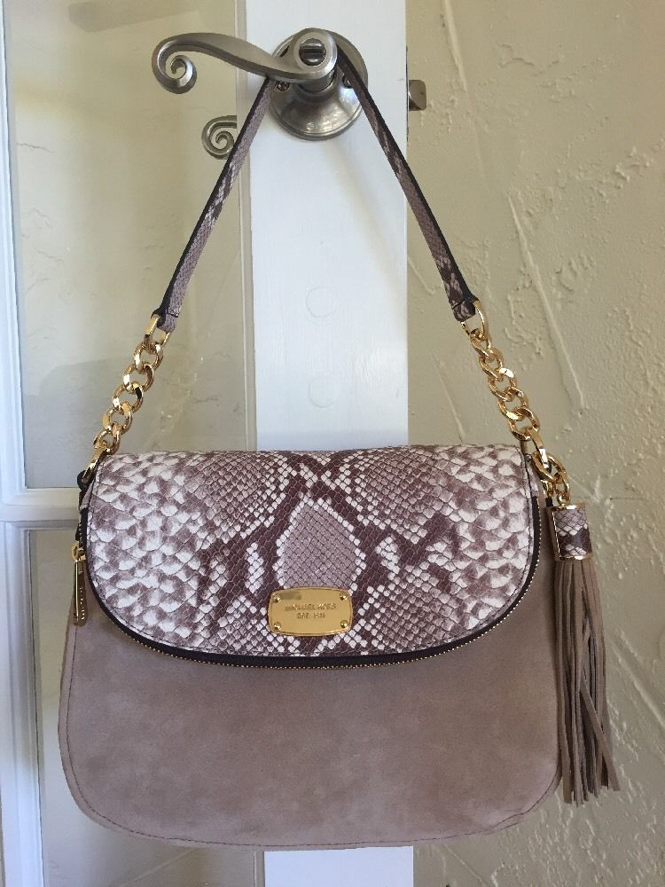 Michael Kors Bedford Medium Convertible Shoulder Bag Dark Sand  #MichaelKors #ShoulderBagCrossbody