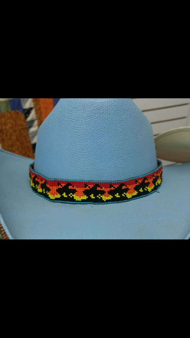 Hat Band Beaded Hat Bands Bead Loom Patterns Native American Beadwork Patterns