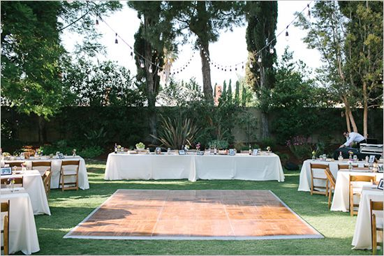 Backyard Wedding Ideas Don T Like The Tables But I Concept Of Surrounding A Dance Floor