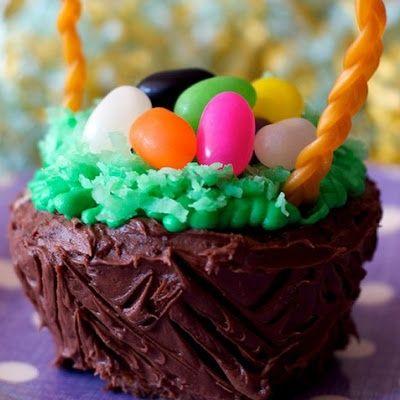 Easter basket cupcake recipe dessert recipes food ideas and food easter basket cupcake negle Choice Image
