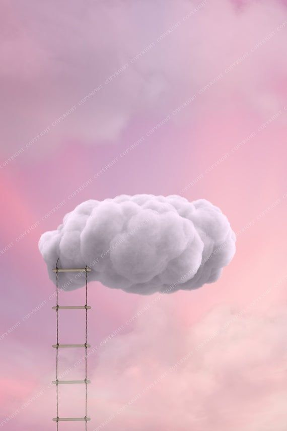 Ladder to the Clouds Backdrop Background / Newborn Photography Backdrop / Digital Background for Photographers / Magical Background