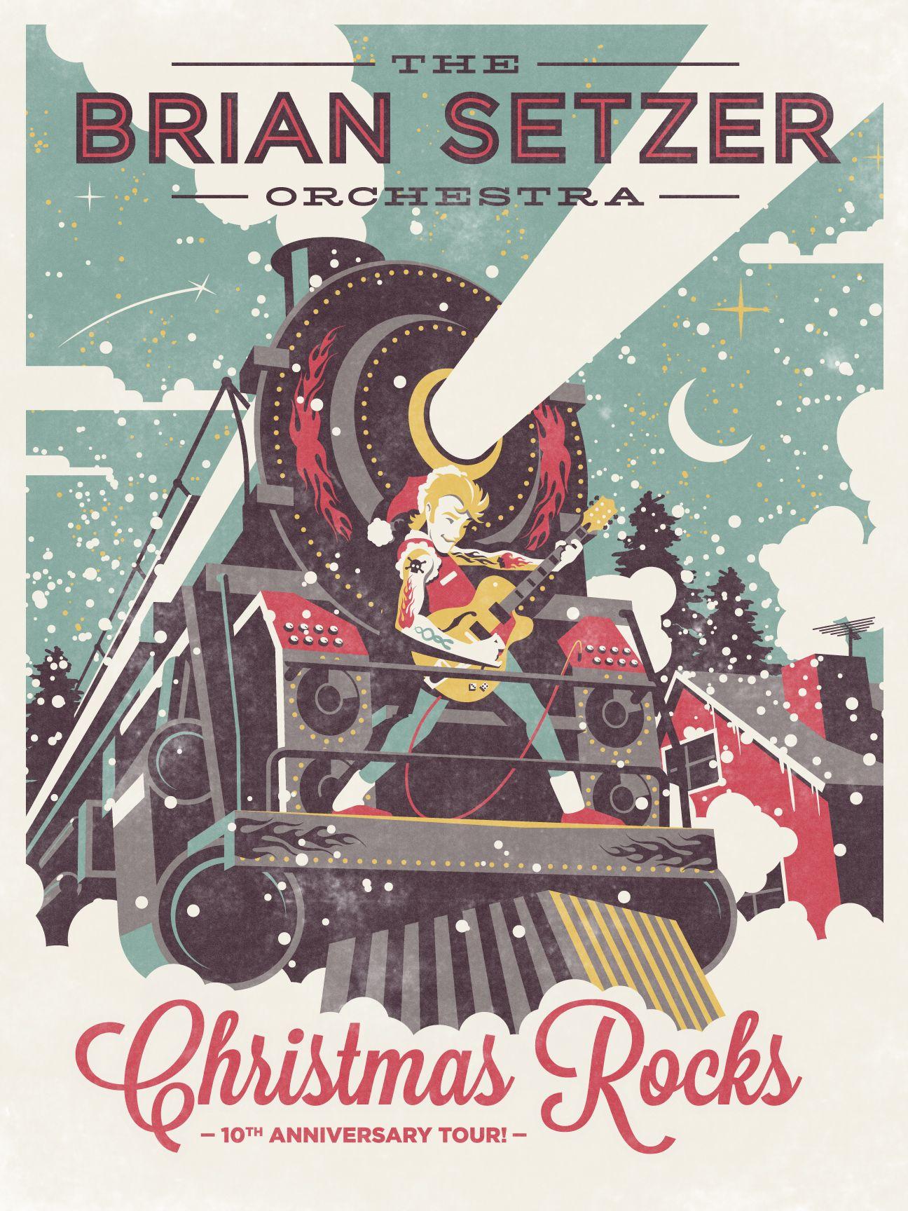 The Brian Setzer Orchestra Christmas Rocks 10th Anniversary Tour ...